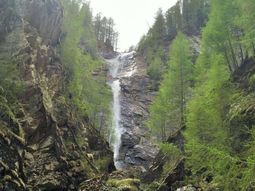 Wasserfall in Alpe Adria Trail Etappe 1