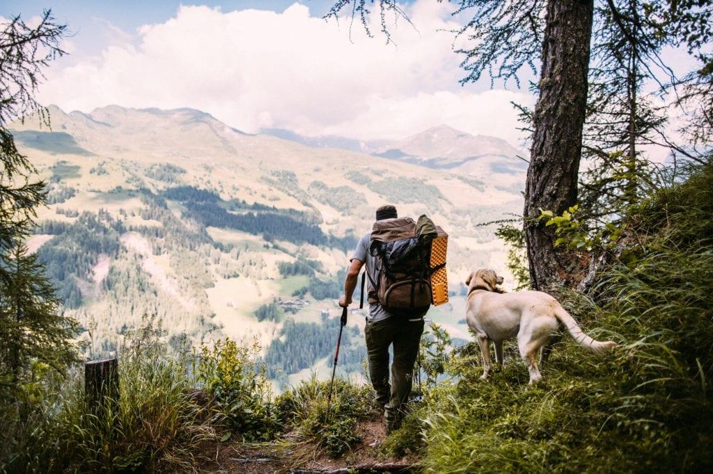 Aussicht bei Retschitz Wanderung